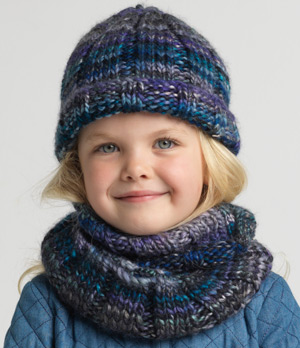 Ribbed Beanie and Cowl